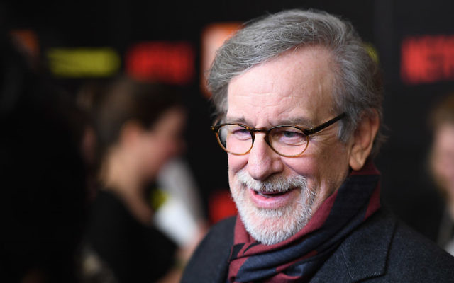 Steven Spielberg at Alice Tully Hall at Lincoln Center in New York, March 27, 2017. (Dimitrios Kambouris/Getty Images)