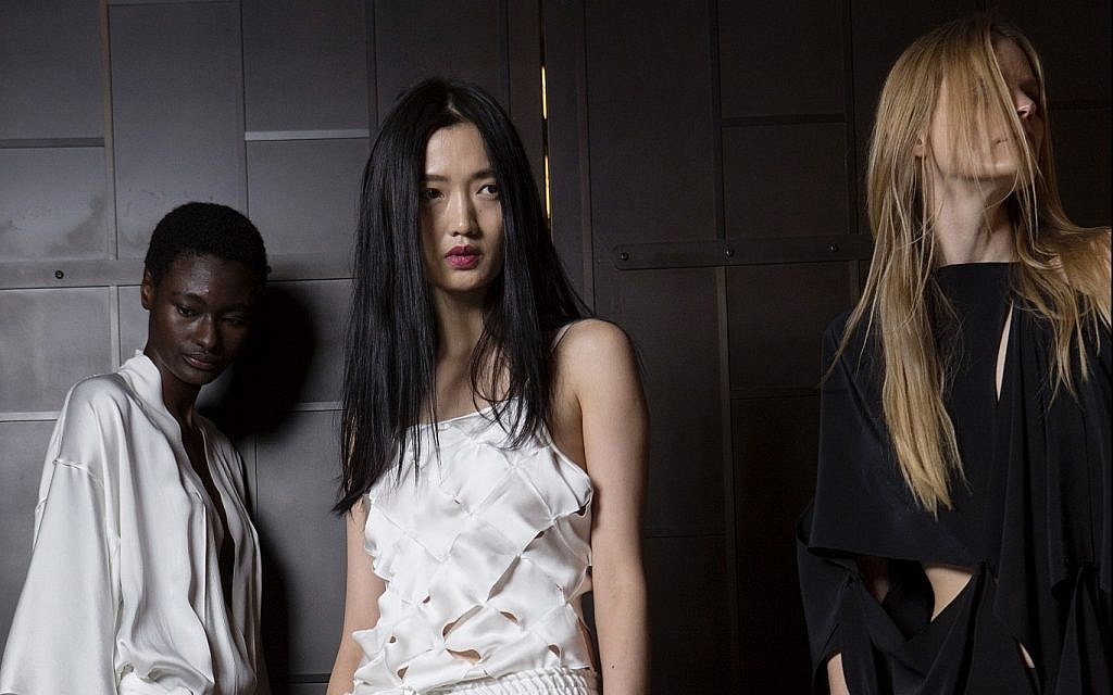 Three of the looks from the upcoming collection of Lia Kes NYC, being shown at New York Fashion Week (Courtesy Lia Kes)