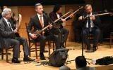 Osher Barayev, left, Aziz Rajabiy, Ulmas Olloberganov and Tahir Rajabiy at International Shash-Maqam Forever concert. Chrystie Sherman