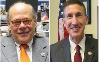 Reps. Steve Cohen, left, and David Kustoff knew each other long before they entered politics. Ron Kampeas/JTA