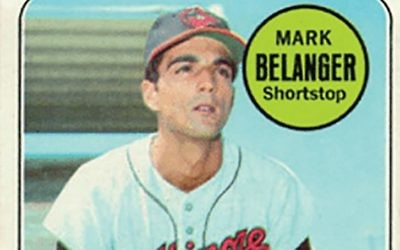 An all-too-brief exchange with a hero: Shortstop isn't a position for lefties, Mark (The Blade) Belanger made clear. Wikimedia Commons