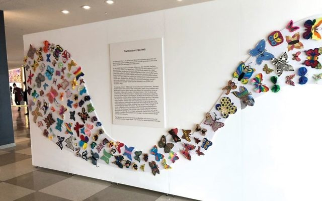 "Part of ""The Butterfly Project"" exhibition at the United Nations. Courtesy of Holocaust Museum Houston"