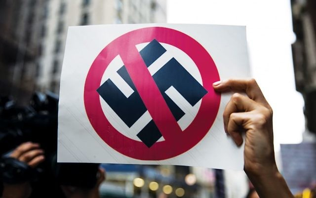 A sign at a protest last August in New York City. Getty Images