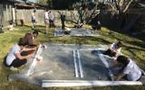Westchester teens work to repair homes affected by Hurricane Harvey. Courtesy of JTeen Leadershipt