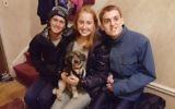 The author's children with their dog Ollie. Courtesy of Nina Moglinik