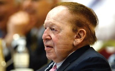 Casino magnate Sheldon Adelson offer could be seen as a conflict of interest, experts say. Getty Images
