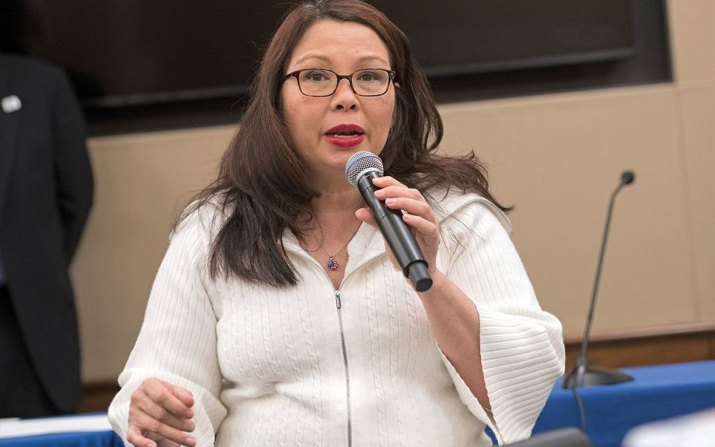 Sen. Tammy Duckworth (D-Ill.) speaking at a bipartisan congressional lunch last week in Washington, D.C., focused on disability issues. Ronald M. Sachs