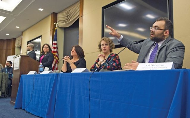 A panel of disability rights advocates in Washington, D.C., as part of Jewish Disabilities Advocacy Day. Ronald M. Sachs