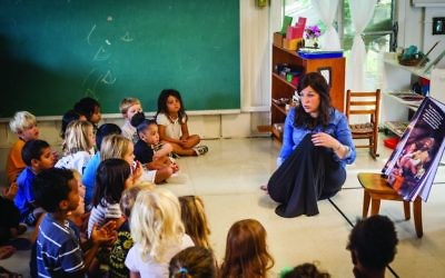 Teaching a mix of local and expat preschoolers at Chabad of the Virgin Islands. Courtesy of Chabad of the Virgin Islands