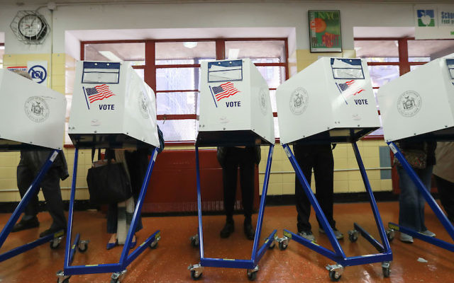 Illustrative photo of voters casting ballots at a public school in New York City, Nov. 8, 2016. Getty Images