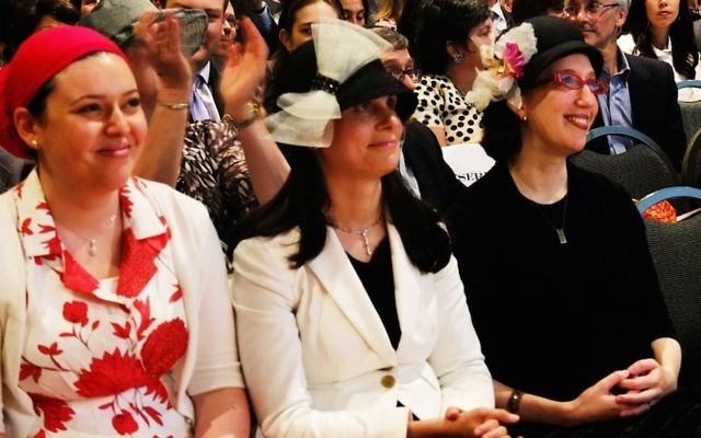The Orthodox Union is allowing Maharat Ruth Friedman, left, shown at her graduation from Yeshivat Maharat in 2013, and three other Orthodox women clergy to remain in their positions without their synagogues facing a penalty. (Joe Winkler)