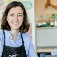 Elaine Luria at the Norfolk, Va., shop she owns called the Mermaid Factory. (Courtesy of the Luria campaign)