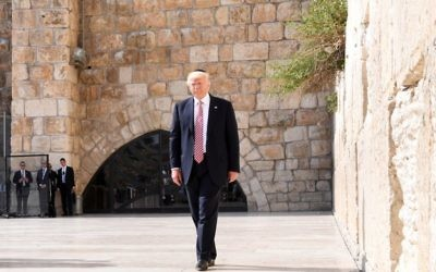 President Trump in Jerusalem last May. Wikimedia Commons