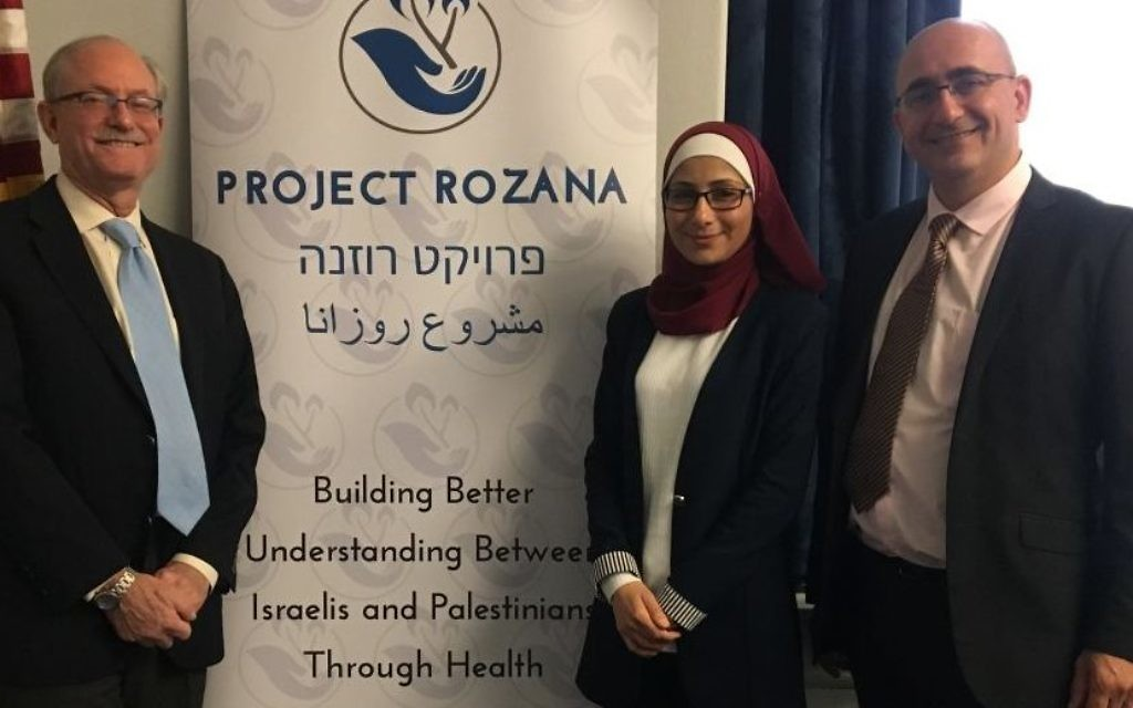 Ken Bob (Chair, Project Rozana America) with the two doctors at a briefing room on Capitol Hill. Courtesy of Project Rozana