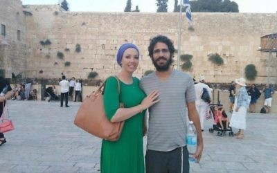Shimon Abta and his wife, who asked not to be named, in happier times. (Via change.org)