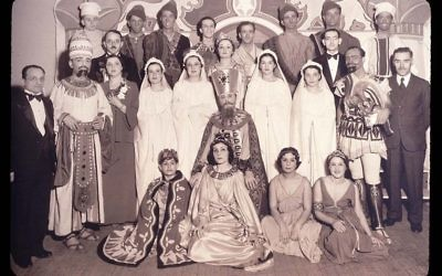 The cast of Purim play staged by the Sephardic Jewish Community in New York in 1936. Wikimedia Commons