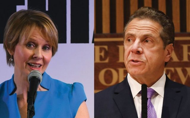 Cynthia Nixon's call for a targeted West Bank boycott could put Israel in play as a serious topic in her challenge of Gov. Andrew Cuomo. Photos by Getty Images