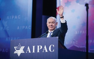 Israeli Prime Minister Benjamin Netanyahu got a warm welcome this week at the annual AIPAC policy conference. Getty Images