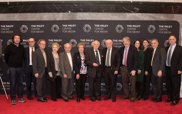 Holocaust survivors, film directors, experts and Claims Conference leaders at Holocaust in Film Event at the Paley Center for Media