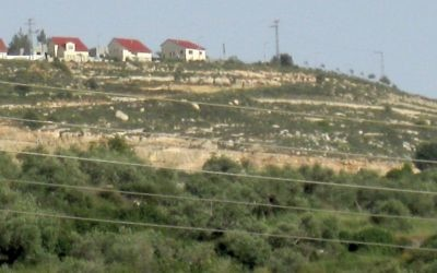 An illustrative photos of a West Bank settlement. Wikimedia Commons