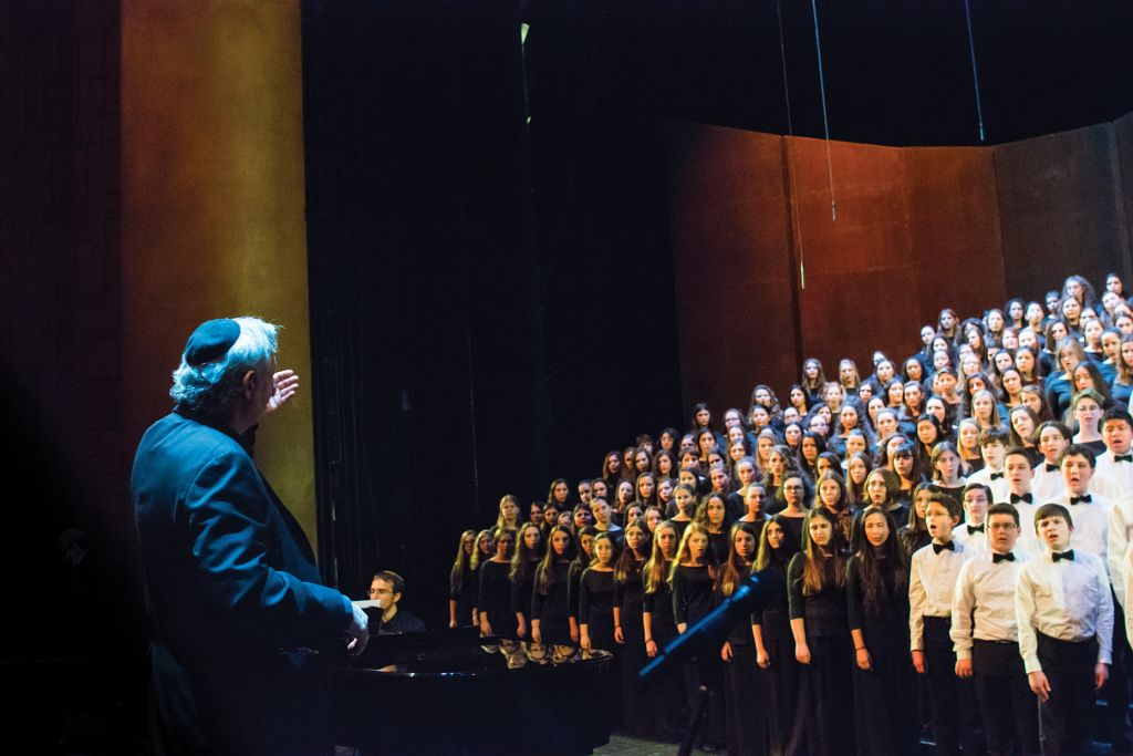 "Matthew Lazar leading the HaZamir teen choir. ""Choral music itself is, intrinsically, a pluralistic endeavor,"" says the author.Avery Peck"