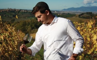 Eli Gauthier in his Cantina Giuliano vineyards. Courtesy of Cantina Giuliano