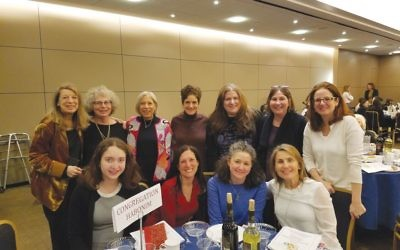 A seder of one's own: Some of the participants of the 7th Annual Women's Seder, which took place at Sutton Place Synagogue. Courtesy of Sutton Place Synagogue