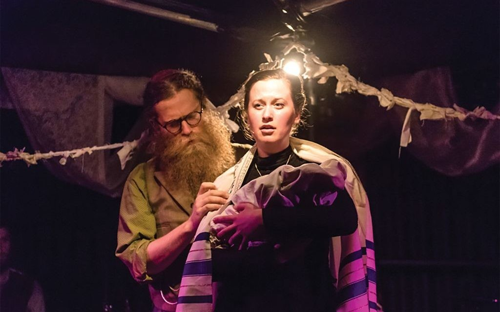 """Ben Caplan and Mary Fay Coady in a scene from """"Old Stock,"""" which takes its title from anti-immigrant comments from Canadian Tory leader Stephen Harper. Photos by Stoo Metz Photography"""