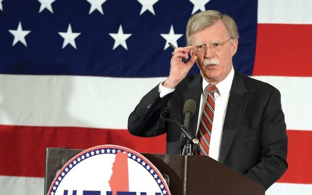 John Bolton speaking at the First in the Nation Republican Leadership Summit last year in Nashua, N.H. Getty Images