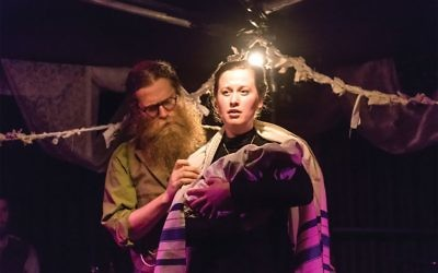 "Ben Caplan and Mary Fay Coady in a scene from ""Old Stock,"" which takes its title from anti-immigrant comments from Canadian Tory leader Stephen Harper. Photos by Stoo Metz Photography"