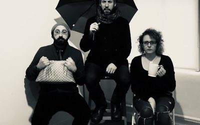 "Gera Sandler, Eli Rosen and Ronit Asheri in ""The Labor of Love."" David Mandelbaum"