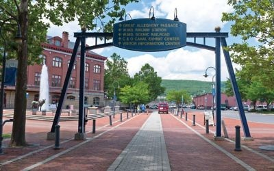 Canal Place is centered on the restored Western Maryland Railroad Station in the heart of downtown Cumberland. Wikimedia Commons