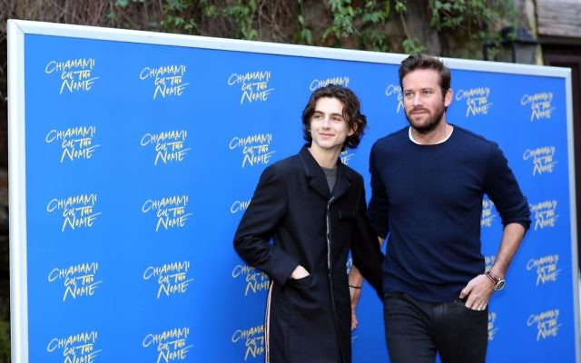 Timothée Chalamet (left) and Armie Hammer. Getty Images.