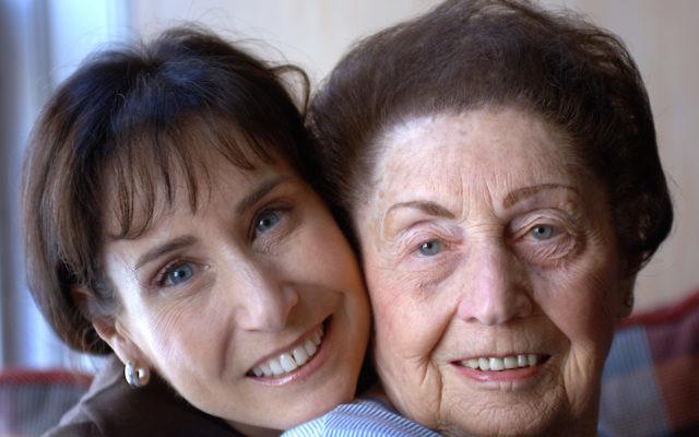 Holocaust survivor Sala Kirschner with her daughter Ann in 2006. JTA