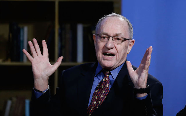 Alan Dershowitz at NEP Studios in New York, Feb. 3, 2016. Getty Images