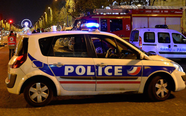 An illustrative photo of a French police car in Paris, France. (Aurelien Meunier/Getty Images)