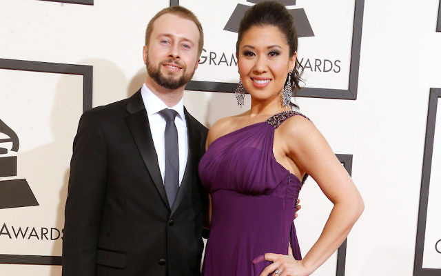 Ruthie Ann Miles with husband Jonathan Blumenstein at the Grammy Awards in Los Angeles, Feb. 15, 2016. (Larry Busacca/Getty Images for NARAS)