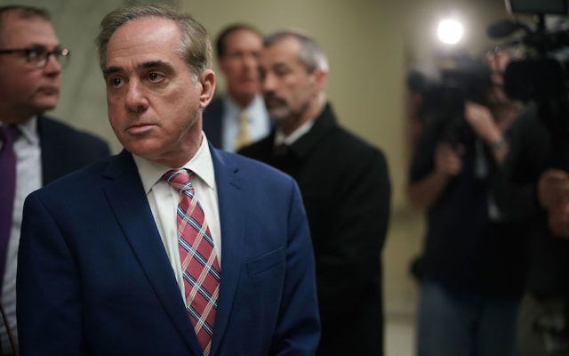 David Shulkin at a hearing before a House subcommittee on Capitol Hill, March 15, 2018. (Alex Wong/Getty Images)