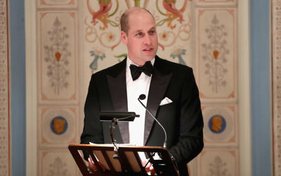 Prince William, Duke of Cambridge, speaking in Oslo, Norway, Feb. 1, 2018. (Chris Jackson/Pool/Getty Images)