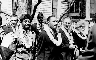 King and Heschel in Selma: A friendship forged in faith. Courtesy of Susannah Heschel