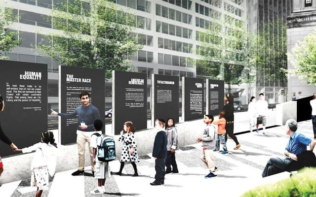 A planned outdoor Holocaust Memorial Plaza in Philadelphia is a response to the rise in anti-Semitism and hate speech. Courtesy of Philadelphia Holocaust Remembrance Foundation