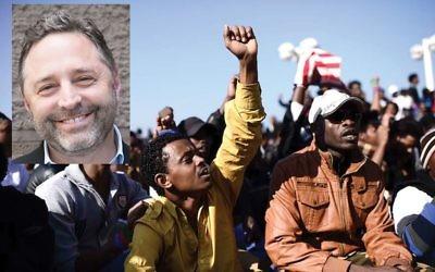 African asylum seekers protest in Israel.