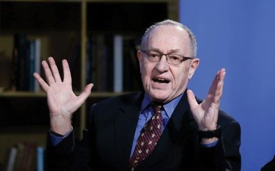 """My liberal friends think I'm pro-Trump but they're dead wrong,"" Alan Dershowitz told The Jewish Week. ""I'm pro-civil liberties."" Photo by John Lamparski/Getty Images for Hulu"