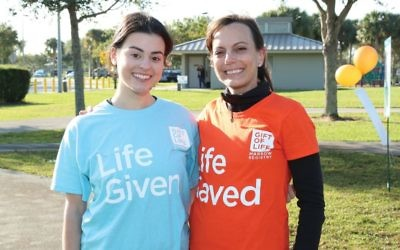 A life-saving transplant: Stem-cell donor Zoe Miller, left, and recipient Ann Hearin. Courtesy Gift of Life
