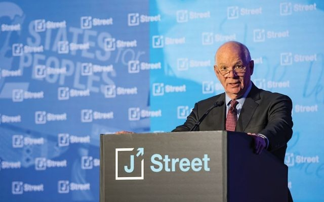 Sen. Ben Cardin (D-Md.) speaking Monday at J Street's conference in Washington, D.C., where he broke with tradition and lashed out at the Israeli prime minister. J Street