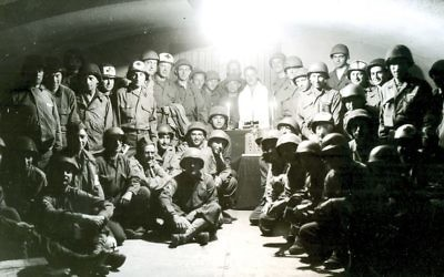 Shot of Jewish soldiers from the documentary. Courtesy of Turquoise Films