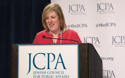 """New direction: Cheryl Fishbein, JCPA president, says the public policy group has expanded """"beyond causes like Darfur and the environment"""" and is being asked to """"respond to more parochial issues that directly impact on the Jewish community."""""""