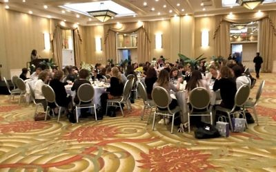 "Chabad's recent ""Spa for the Soul"" luncheon at the Doubletree hotel in Tarrytown. Merri Rosenberg/JW"