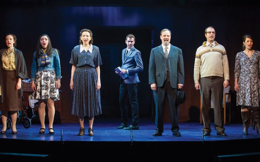 """The cast of """"Goldstein: The Musical,"""" in which a family grapples with family secrets unearthed in a memoir written by the protagonist, Louis Goldstein. Jeremy Daniel"""