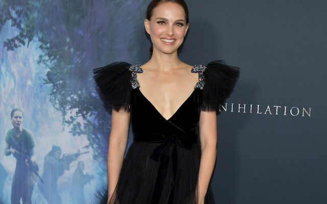 "Natalie Portman at the ""Annihilation"" premiere at Regency Village Theatre in Westwood, California, Feb. 13, 2018. (Neilson Barnard/Getty Images)"